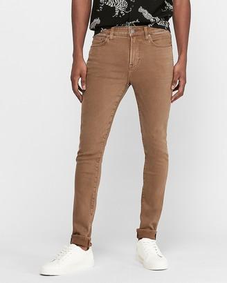 Express Skinny Dark Khaki Hyper Stretch Jeans