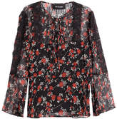 The Kooples Patterned Silk Top with Lace