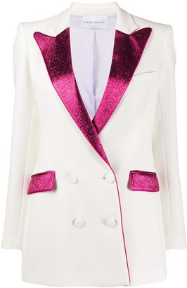 Hebe Studio Bianca double-breasted blazer