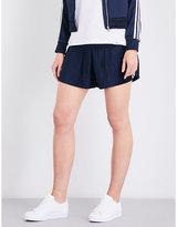 adidas 3-Stripes satin-plissé shorts