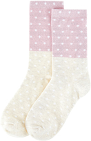 Accessorize Two Tone Spot Socks