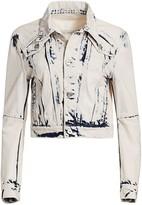 Proenza Schouler White Label Cropped Denim Trucker Jacket