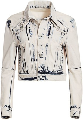Proenza Schouler White Label Cropped Denim Trucker Jacket