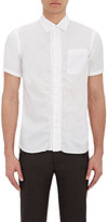 Kolor MEN'S RUCHED SHORT-SLEEVE SHIRT-WHITE SIZE 1