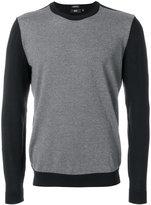 HUGO BOSS colour block crew neck sweater