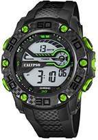 Calypso Unisex Digital Watch with LCD Dial Digital Display and Black Plastic Strap K5691/6