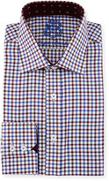 English Laundry Check Woven Dress Shirt, Red/Blue