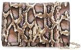 Jimmy Choo Varenne snakeskin print clutch