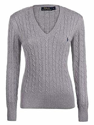 Ralph Lauren Ladies/Womens V Neck Jumper Sweater Blue Pink Purple Navy White S M L XL Cable Knit (S