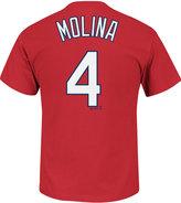 Majestic Men's Yadier Molina St. Louis Cardinals Official Player T-Shirt