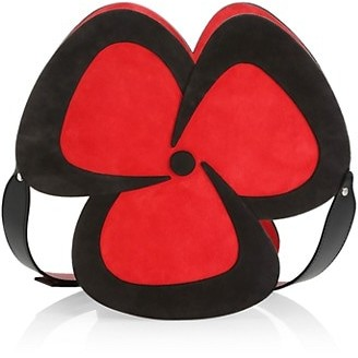 Christian Louboutin Pensee Floral Suede & Leather Crossbody Bag
