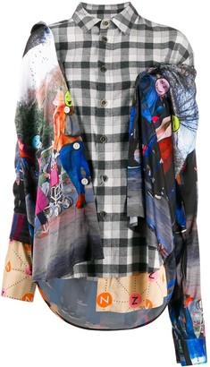 Natasha Zinko Emoji Line Oversized Combo Asymmetric Shirt