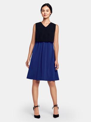 Of Mercer Quincy Dress - Cobalt