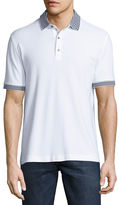 Robert Graham Axelrod Stripe-Detail Polo Shirt
