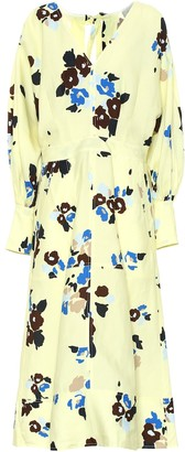 Lee Mathews Dolores floral linen-blend dress