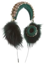 Dolce & Gabbana x Frends 2015 Embellished Fur-Accented Headphones