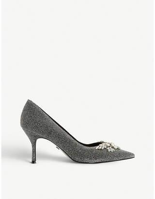Dune Bianca 2 jewel-embellished court shoes