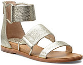 Isola Shiloh Metallic Leather Double Banded Ankle Strap Sandals