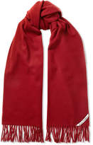 Acne Studios Canada Narrow Fringed Wool Scarf - Claret