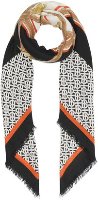 Burberry Archive print large square scarf
