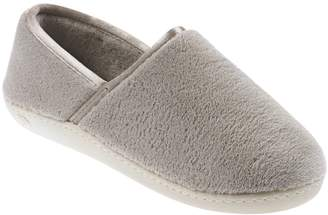 Isotoner Microterry Espadrille with Satin Trim Slippers