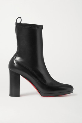 Christian Louboutin Contrevent 100 Leather Sock Boots - Black
