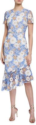 Shoshanna Kallista Sea Garden Lace Dress