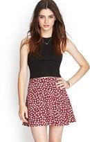 Forever 21 FOREVER 21+ Floral Print Skater Skirt