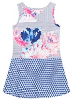 Joules Blue Floral and Stripe Jersey Tank Dress