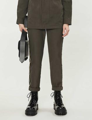 Zadig & Voltaire Pomelo side-stripe cotton trousers