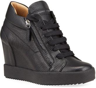 Giuseppe Zanotti Dual-Zip Wedge Sneakers
