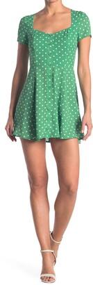 re:named apparel Mina Short Sleeve Polka Dot Dress