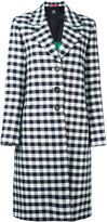 Paul Smith checked single-breasted coat - women - Cotton/Viscose - 38