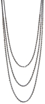 Ten Thousand Things Triple Strand Bead Chain Necklace - Sterling Silver