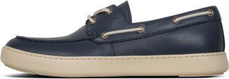 FitFlop Lawrence Mens Leather Boat Shoes