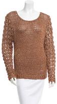 Rag & Bone Open Knit Metallic Sweater