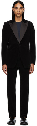 Dries Van Noten Black Corduroy Tuxedo