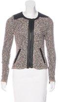 Rag & Bone Leather-Trimmed Knit Jacket