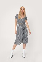 Thumbnail for your product : Nasty Gal Womens Wrap Gingham Cut Out Midi Dress - Black - S