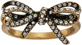 Marc Jacobs Bow Pave Twisted Ring Ring