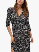 Thumbnail for your product : MANGO Pomelo Crinkled Floral Midi Dress, Black/White