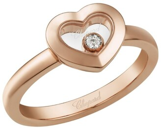 Chopard Rose Gold Happy Diamonds Icons Heart Ring