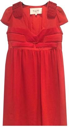 Rue Du Mail Red Silk Dress for Women