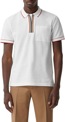 Burberry Men's Waltham Tipped Icon-Stripe Polo Shirt