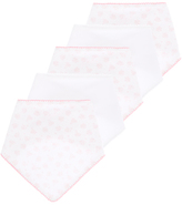 Tu clothing Pink And White Hanky Bibs 5 Pack