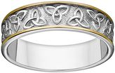 Celtic Sterling Silver Two Tone Trinity Knot Wedding Band