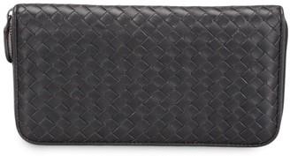 Bottega Veneta Pre-Owned Intrecciato weave zip-around wallet