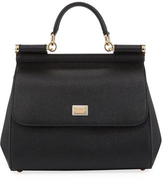 Dolce & Gabbana Sicily Medium Calf Leather Satchel Bag