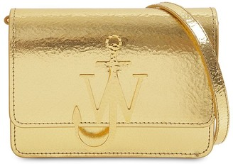 J.W.Anderson Logo Metallic Leather Shoulder Bag