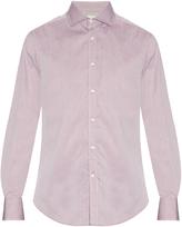 Brunello Cucinelli Spread-collar cotton-piqué shirt